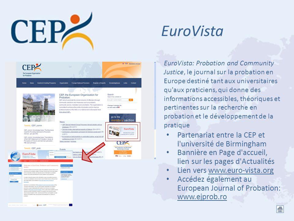 EuroVista Partenariat entre la CEP et l'université de Birmingham Bannière en Page d'accueil, lien sur les pages d'Actualités Lien vers www.euro-vista.