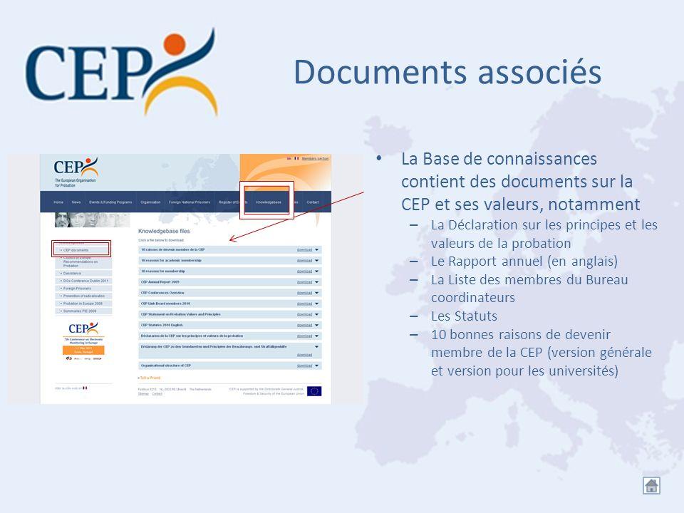 Documents associés La Base de connaissances contient des documents sur la CEP et ses valeurs, notamment – La Déclaration sur les principes et les vale