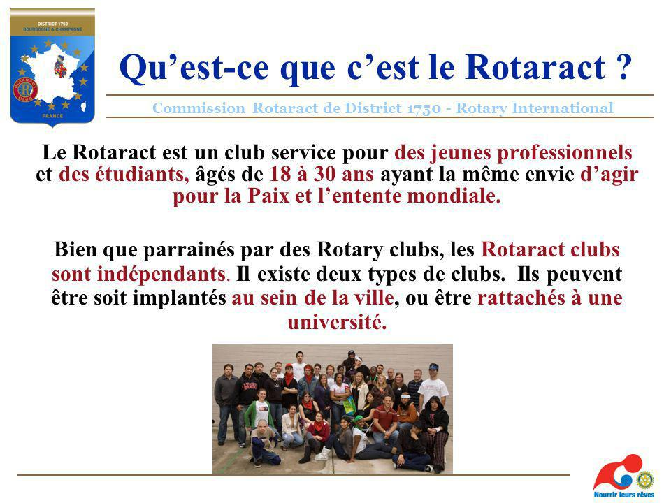 Commission Rotaract de District 1750 - Rotary International Quest-ce que cest le Rotaract .