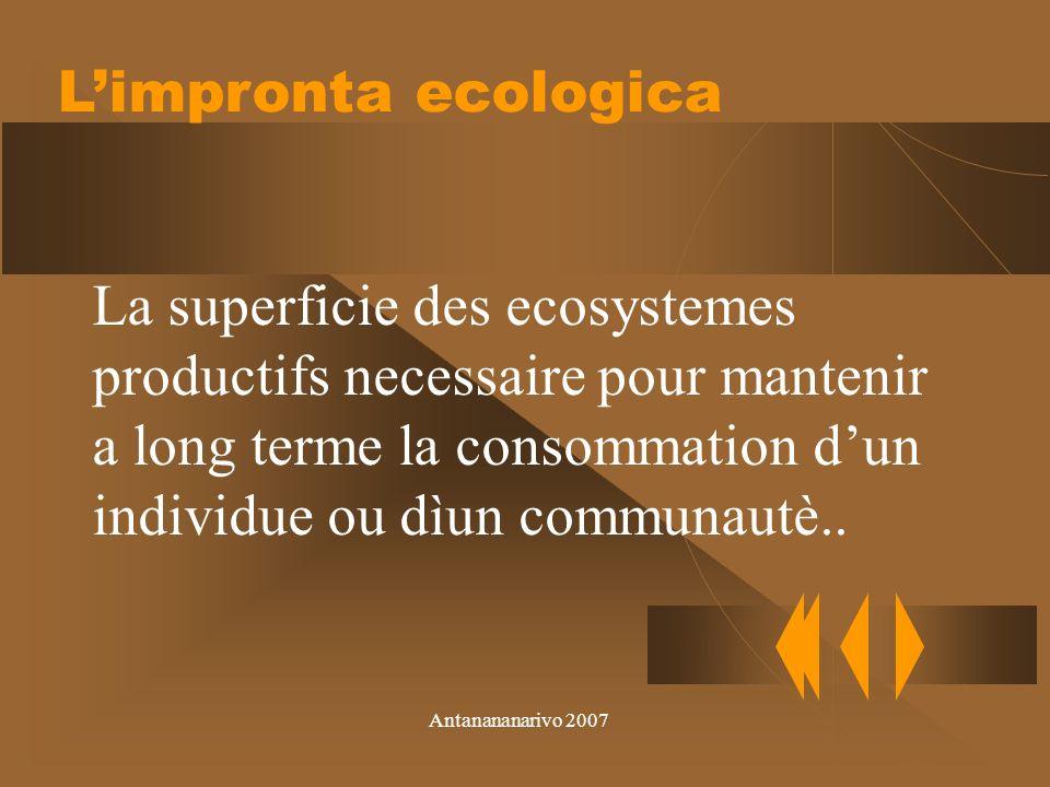 Antanananarivo 2007 La capacitè de charge evite de evaluer les effects du commerce sur la productivitè des ecosystenmes lointaines.