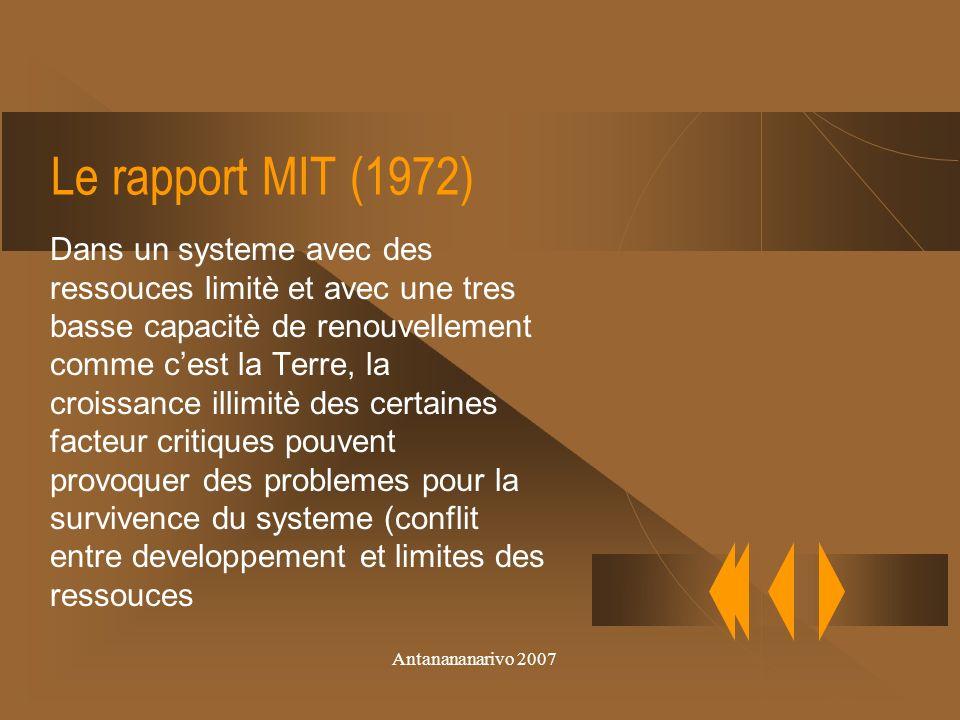 Antanananarivo 2007 Stokolm 1972 Reconnaisance du lien entre demographie, pouvretè, environnment