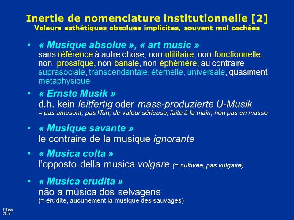 Inertie de nomenclature institutionnelle [1] Domaines détudes obligés de sidentifier comme « autre »: 1. Les femmes (51%), dont les vies et les activi