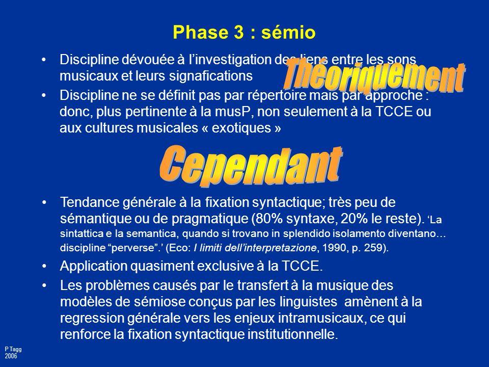 Phase 2 : socio Sociologie : 1ère discipline à prendre au sérieux la musP. La sociologie, quelle soit théorique/critique ou empirique, contribue à lin