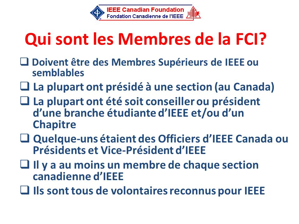 Opérations Financières (1/2) Financement initial provenant de IEEC Inc.