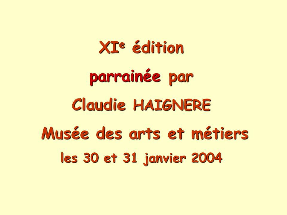 Merci : au Directeur et au personnel du musée des Arts et métiers pour leur accueil et leur disponibilité, à lENS Cachan, lENS Lyon, lENS Paris, lINSTN, le Palais de la découverte, lUdPPC, la SFEN, la SFP, pour les prix spéciaux attribués.