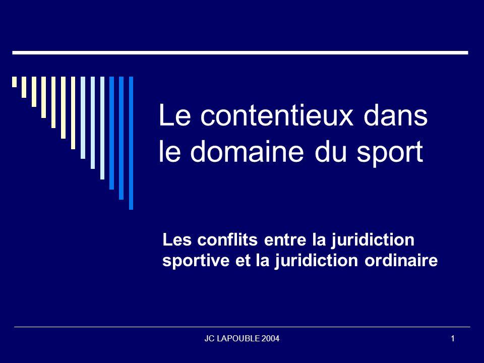 JC LAPOUBLE 200412 La procédure darbitrage ordinaire Procédure conçue en vue du régler les litiges de nature commerciale qui peuvent intervenir en matière sportive.