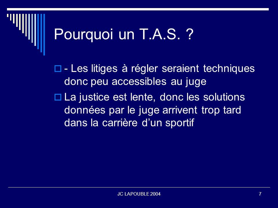 JC LAPOUBLE 200418 Quel contrôle sur le T.A.S.