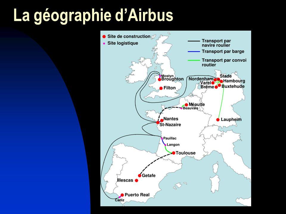 La géographie dAirbus