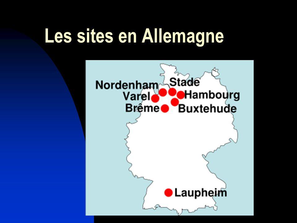 Les sites en Allemagne