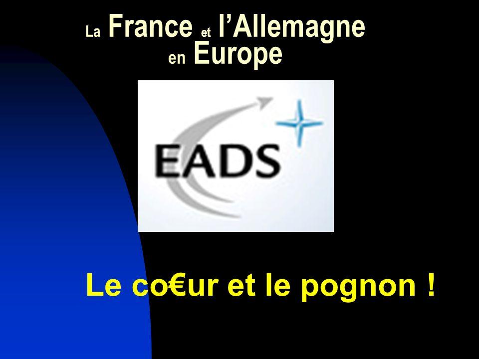 La France et lAllemagne en Europe Le cour et le pognon !