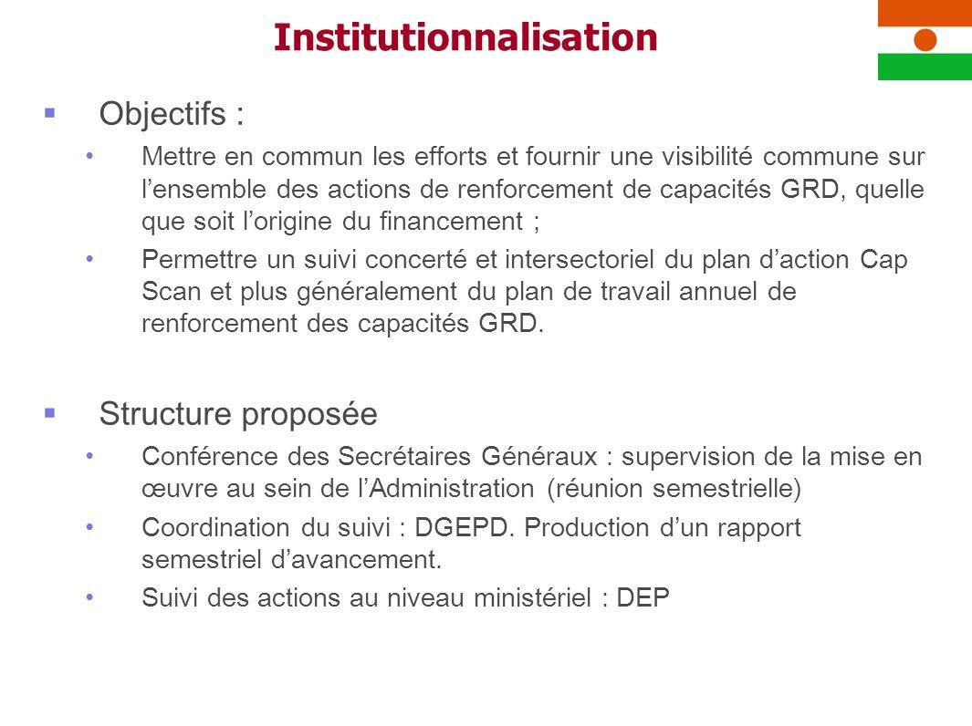 Objectifs : Mettre en commun les efforts et fournir une visibilité commune sur lensemble des actions de renforcement de capacités GRD, quelle que soit