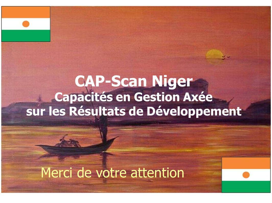 CAP-Scan Niger Capacités en Gestion Axée sur les Résultats de Développement Merci de votre attention