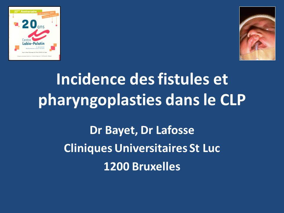 Matériel et méthodes Etude rétrospective 1989 – 2005 288 patients porteurs de FP ou LP Exclusion des patients syndromiques Utilisation de la classification de Veau