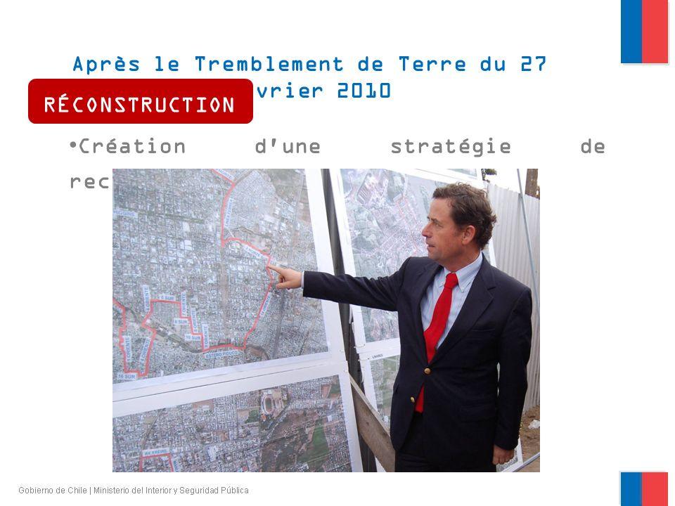 Après le Tremblement de Terre du 27 février 2010 Création d'une stratégie de reconstruction RÉCONSTRUCTION