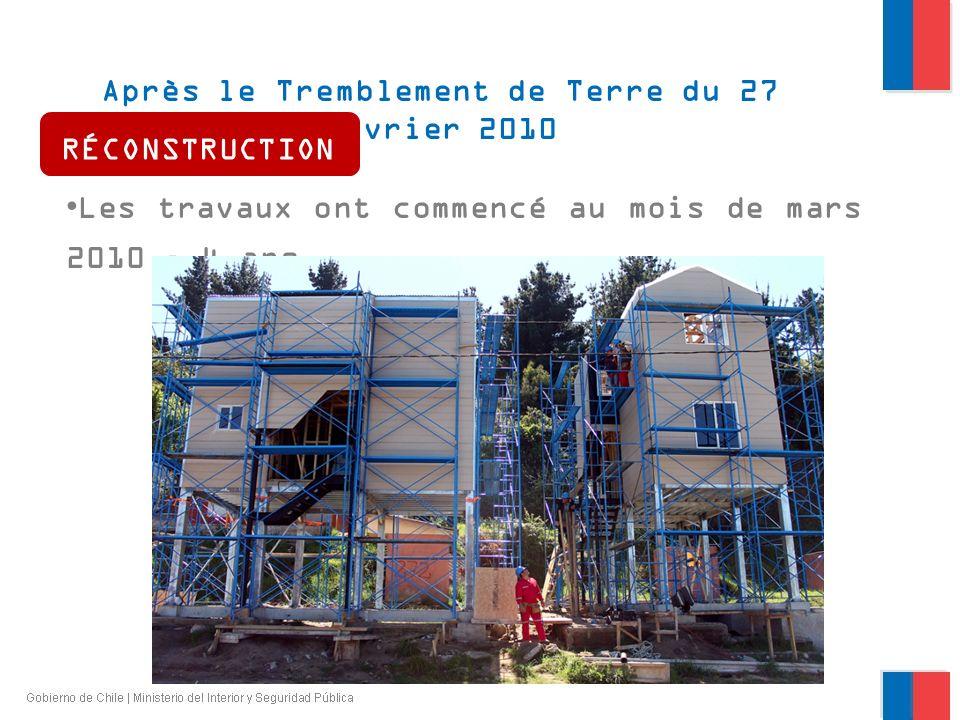 Après le Tremblement de Terre du 27 février 2010 RÉCONSTRUCTION Les travaux ont commencé au mois de mars 2010 – 4 ans