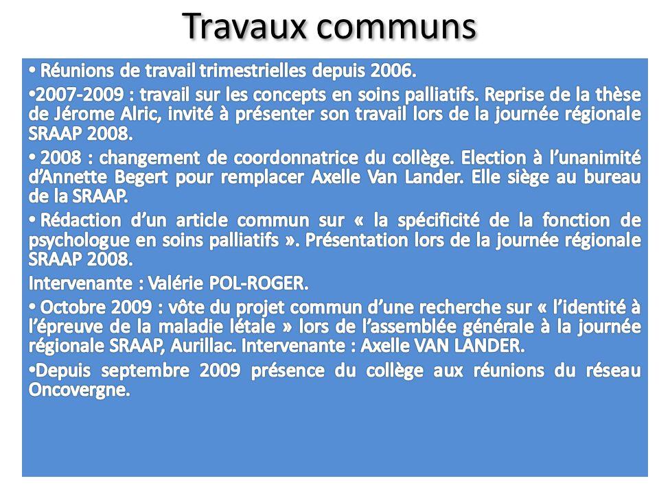 TRAVAUX EN COURS Travaux en cours : recherche doctorale « lidentité à lépreuve de la maladie létale ».