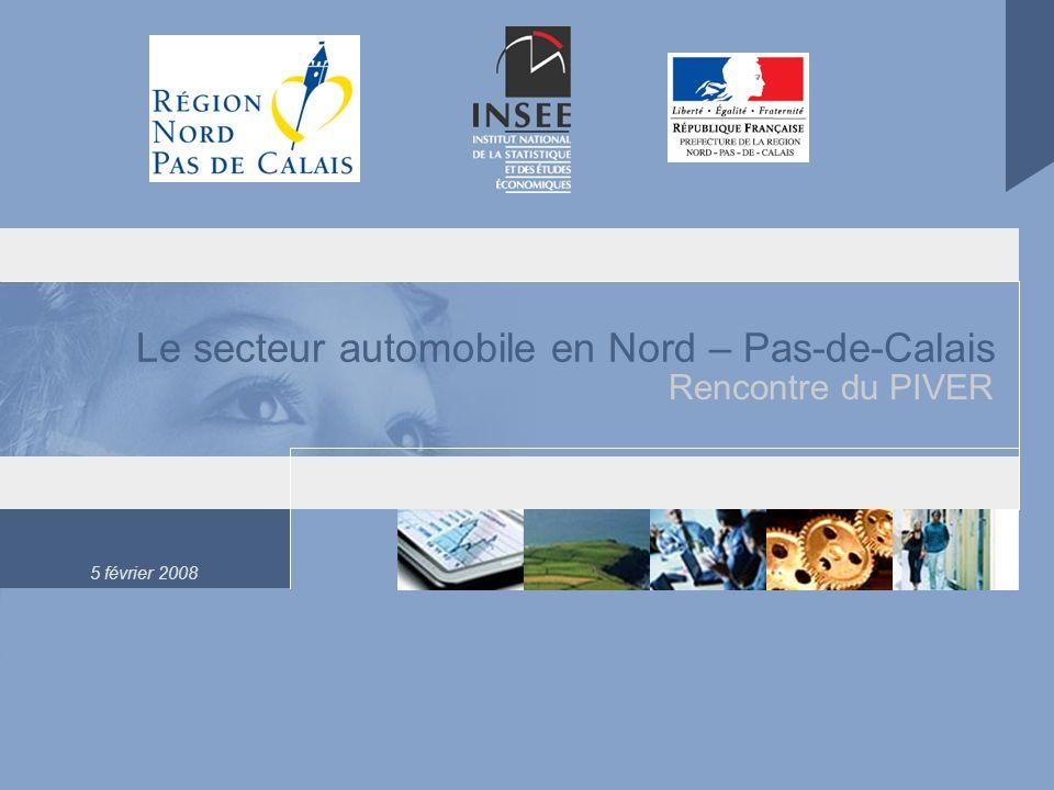 5 février 2008 Le secteur automobile en Nord – Pas-de-Calais Rencontre du PIVER