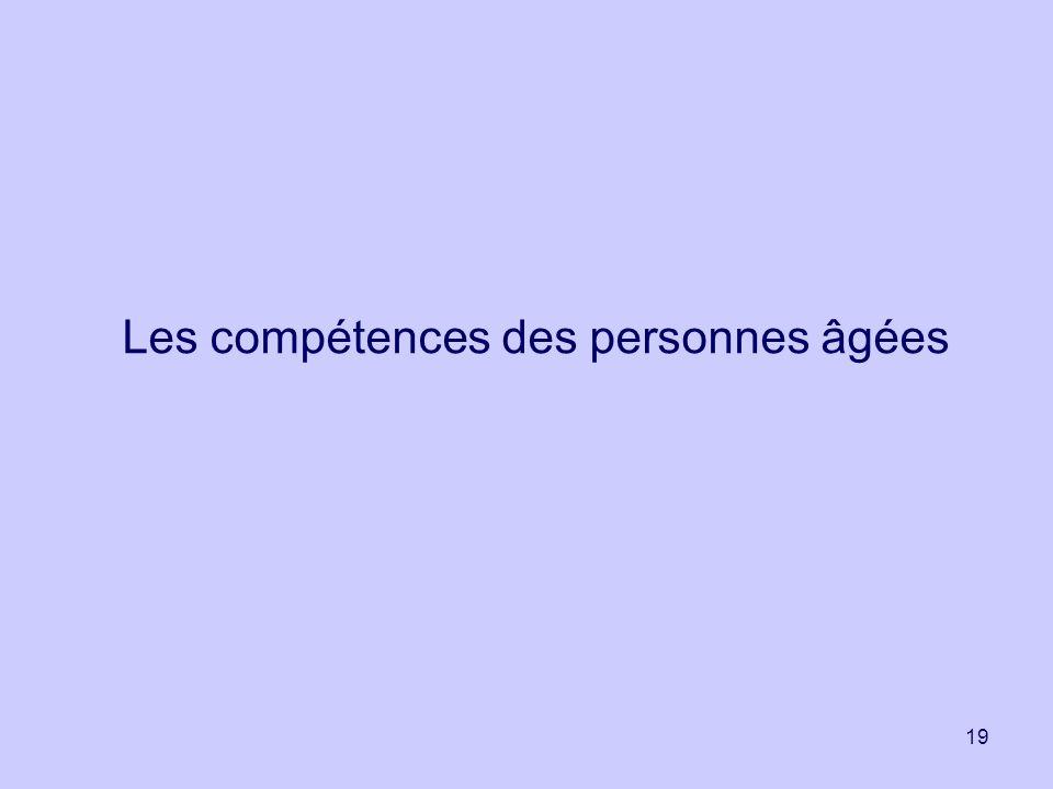 19 Les compétences des personnes âgées