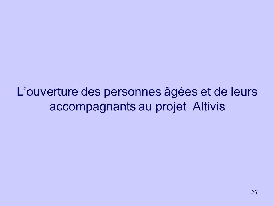 26 Louverture des personnes âgées et de leurs accompagnants au projet Altivis