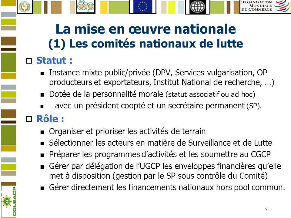 10 La mise en œuvre nationale (2) les acteurs nationaux o Identification pragmatique des acteurs selon les pays : n en fonction des mandats légaux n …mais aussi des compétences et capacités opérationnelles (sappuyer sur ce qui fonctionne).