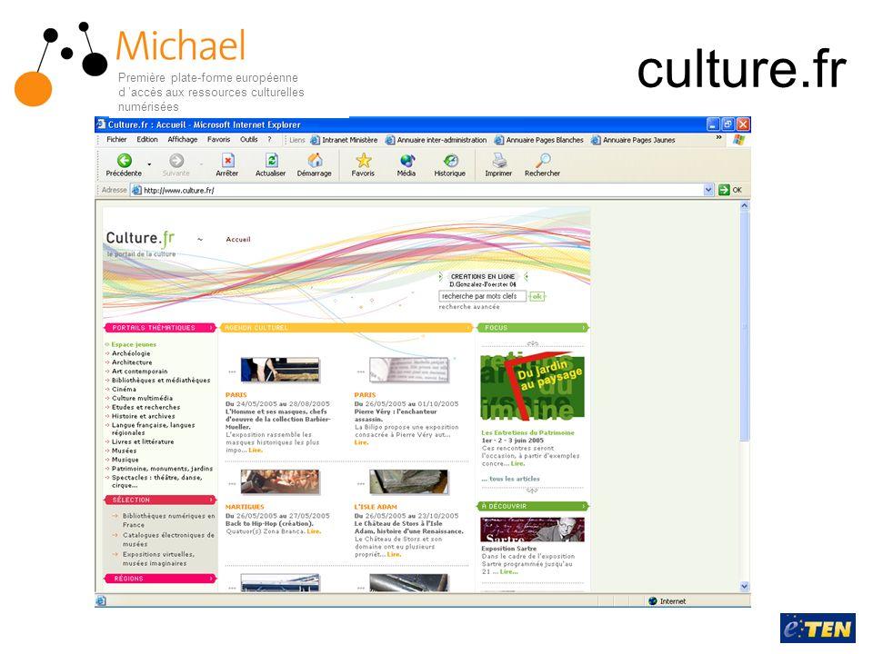 culture.fr Première plate-forme européenne d accès aux ressources culturelles numérisées