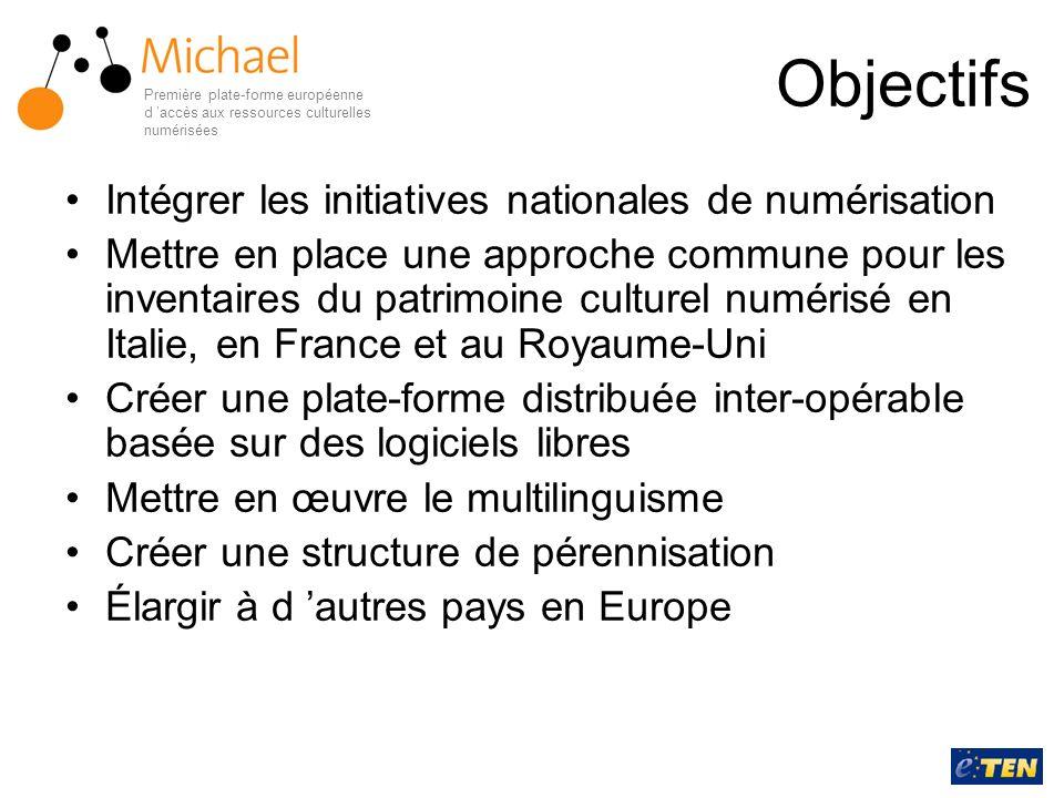 Objectifs Intégrer les initiatives nationales de numérisation Mettre en place une approche commune pour les inventaires du patrimoine culturel numéris