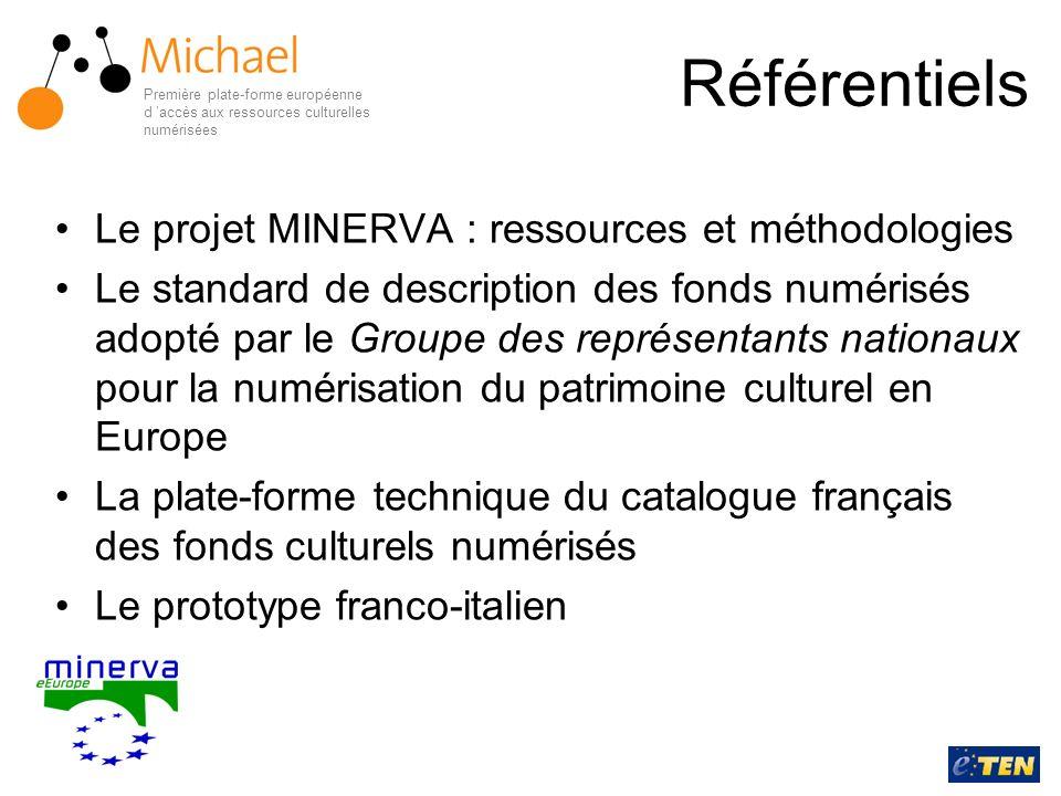 Référentiels Le projet MINERVA : ressources et méthodologies Le standard de description des fonds numérisés adopté par le Groupe des représentants nat