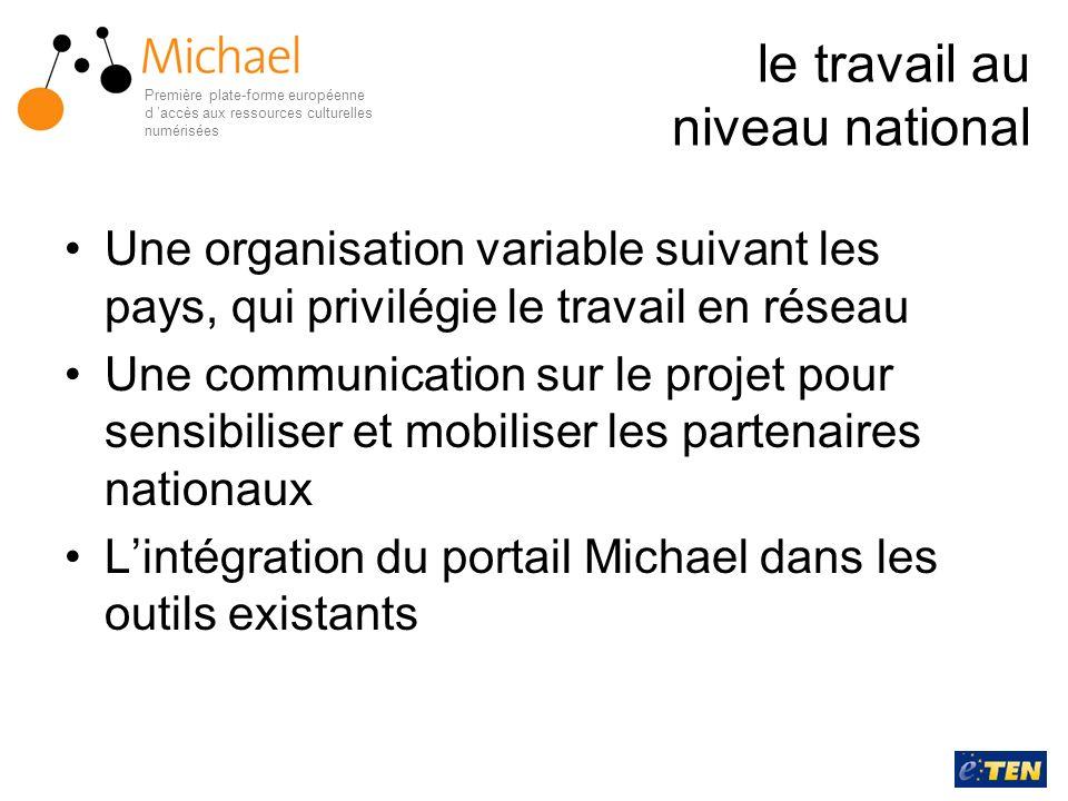 le travail au niveau national Une organisation variable suivant les pays, qui privilégie le travail en réseau Une communication sur le projet pour sen