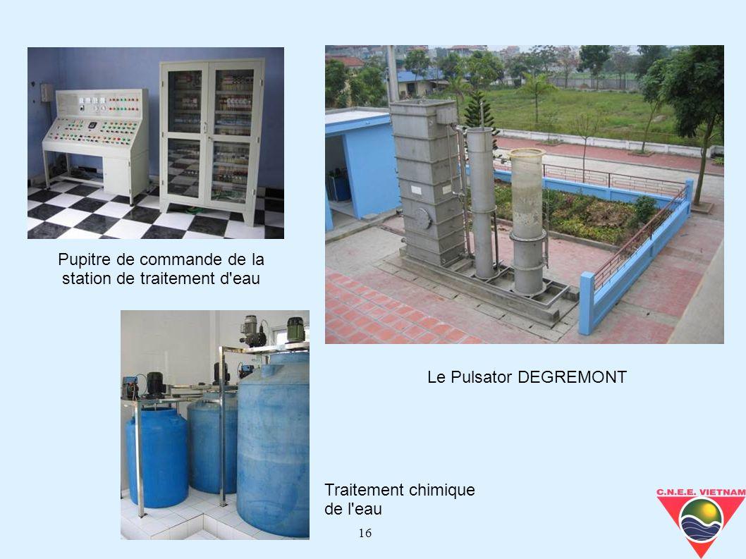 16 Le Pulsator DEGREMONT Traitement chimique de l'eau Pupitre de commande de la station de traitement d'eau
