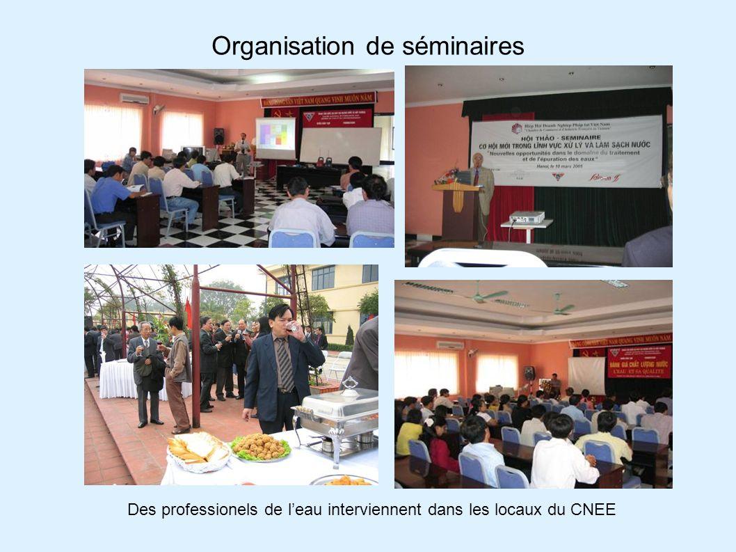 Organisation de séminaires Des professionels de leau interviennent dans les locaux du CNEE