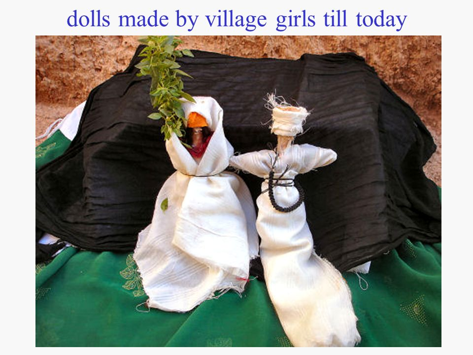 dolls made by village girls till today