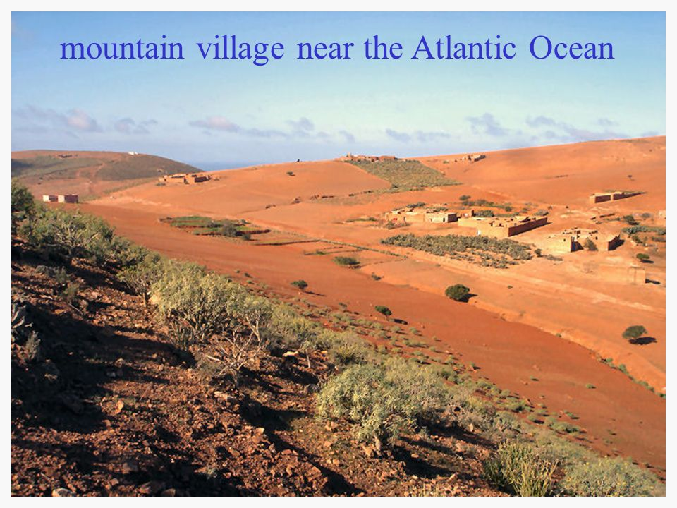 mountain village near the Atlantic Ocean