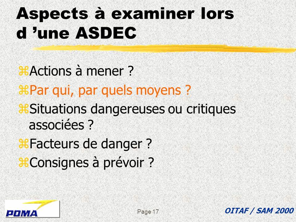 Page 16 Exemple d une action à mener zMise en place des voies principales des télésièges débrayables. OITAF / SAM 2000