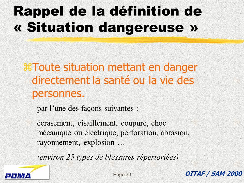 Page 19 Aspects à examiner lors d une ASDEC zActions à mener ? zPar qui, par quels moyens ? zSituations dangereuses ou critiques associées ? zFacteurs