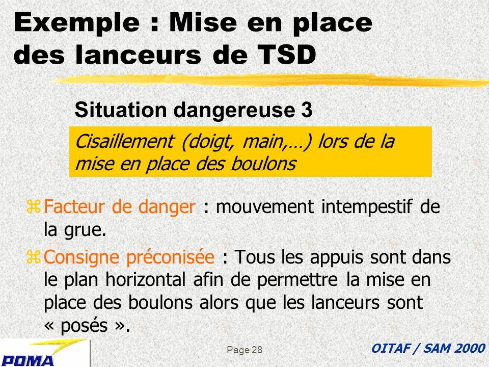Page 27 zFacteur de danger : déstabilisation de l échelle permettant d accéder en hauteur. zConsigne préconisée : Des points de fixation de l échelle