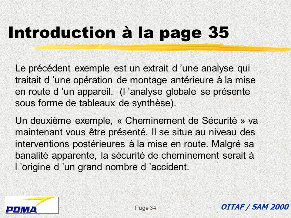 Page 33 zFacteur de danger : « Résidus » de prémontage zConsignes préconisées : yPersonne sous la charge lors de sa manutention yEPI Exemple : Mise en