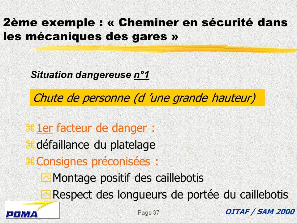 page 36 2ème exemple dASDEC : « Cheminer en sécurité » zPlatelage en caillebotis sur tout le pourtour interne des lanceurs zSous faces portantes OITAF