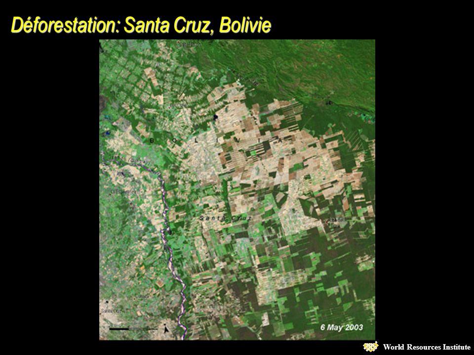 World Resources Institute 1973 –petit territoire 2000 –paysage gravement altéré Augmentation de la densité urbaine à Las Vegas, Nevada Augmentation de la densité urbaine à Las Vegas, Nevada