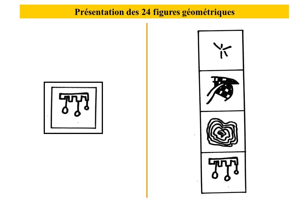 Présentation des 24 figures géométriques
