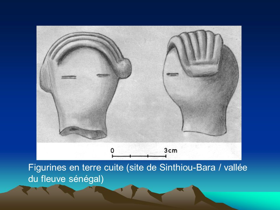 Figurines en terre cuite (site de Sinthiou-Bara / vallée du fleuve sénégal)