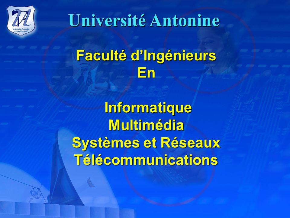 Université Antonine Des Sciences Théologiques et des Etudes Pastorales KARM SADDEH Facultés :