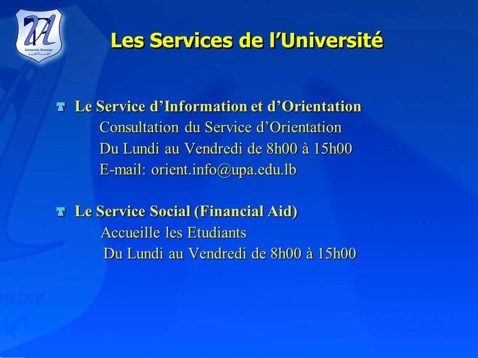 Conditions dadmission Pour sinscrire à lUniversité Antonine, le candidat(e) doit: Être titulaire du baccalauréat libanais ou dun diplôme reconnu offic