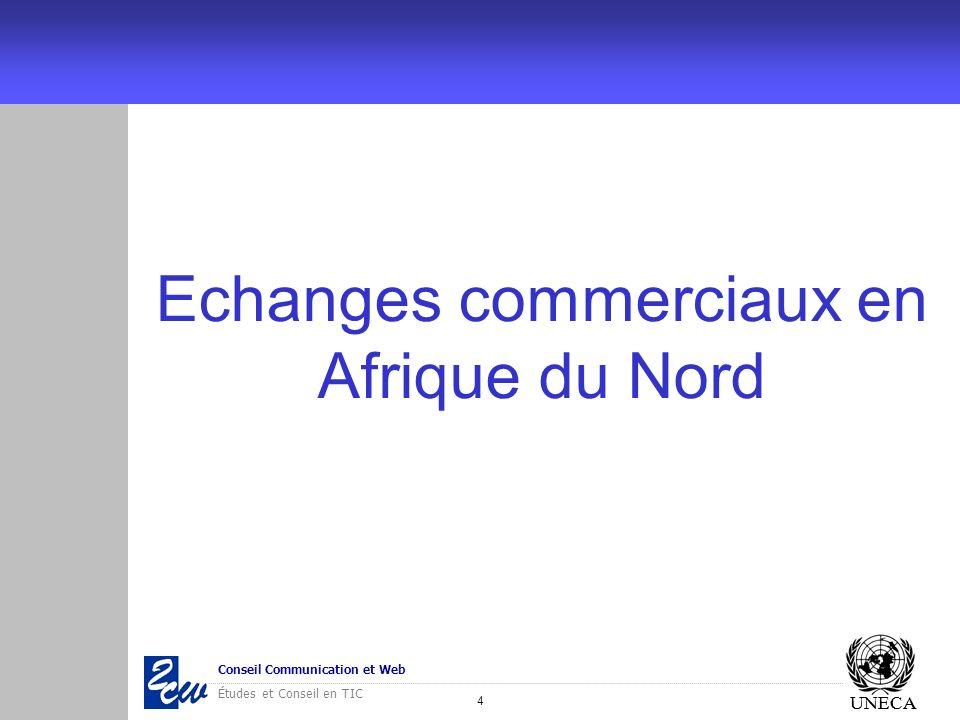 4 Conseil Communication et Web Études et Conseil en TIC UNECA Echanges commerciaux en Afrique du Nord