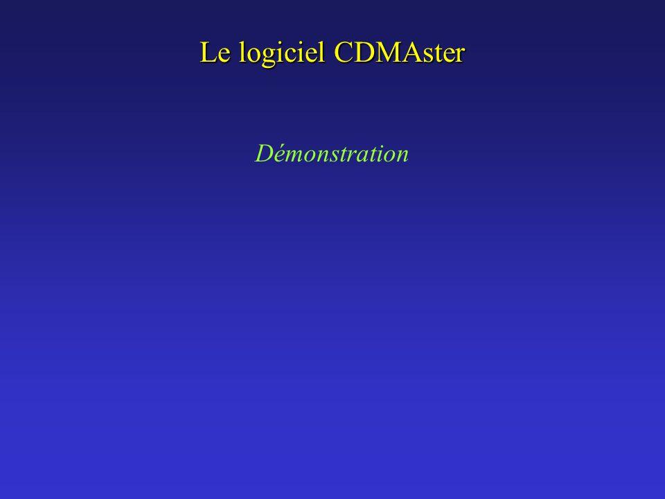 Le logiciel CDMAster Démonstration