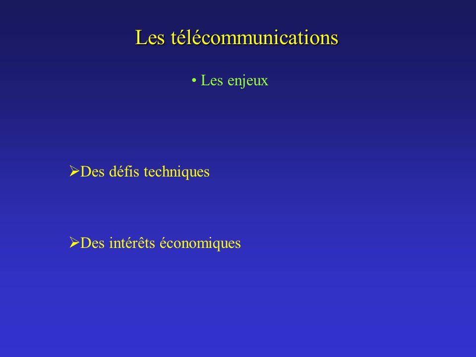 Les télécommunications Les enjeux Téléphonie analogique Téléphonie numérique Les enjeux Téléphonie analogique