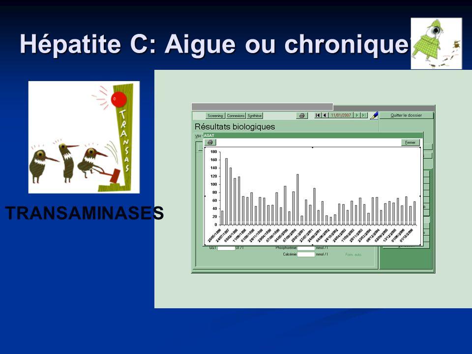 Hépatite C: Aigue ou chronique? TRANSAMINASES