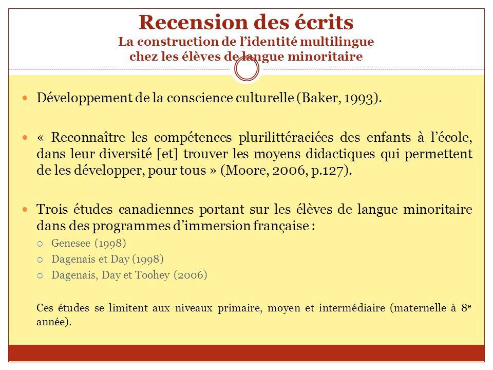 Références Baker, C.(1993). Foundations of Bilingual Education and Bilingualism.