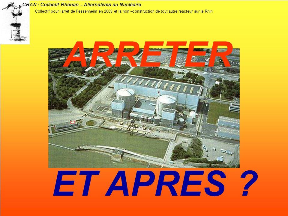 CRAN : Collectif Rhénan - Alternatives au Nucléaire ARRETER ET APRES ? Collectif pour l'arrêt de Fessenheim en 2009 et la non –construction de tout au