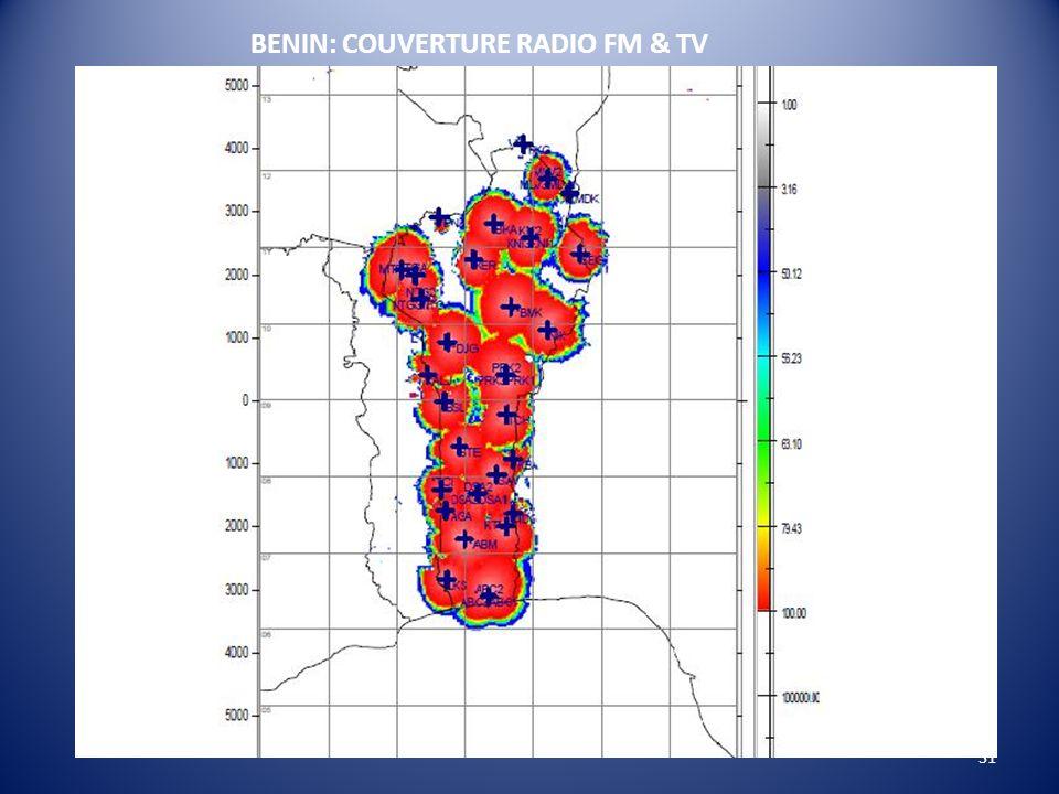 31 BENIN: COUVERTURE RADIO FM & TV
