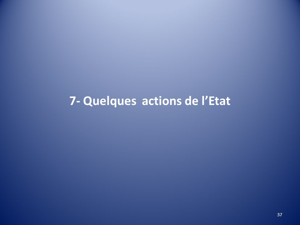 7- Quelques actions de lEtat 37